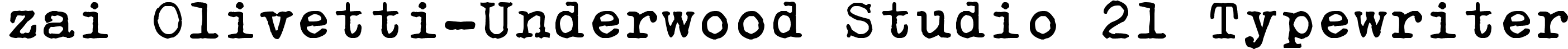 zai Olivetti-Underwood Studio 21 Typewriter